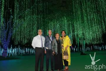 The Zobel family at the Ayala Triangle Gardens as they witness the world-class Festival of Lights.