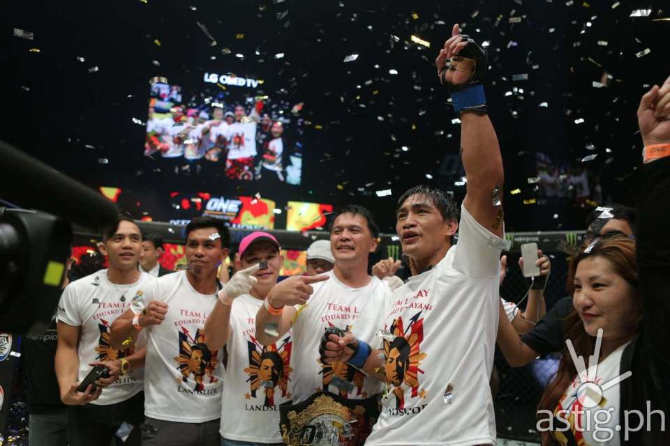Eduard Folayang defeats Shinya Aoki to attain the long-sought ONE Lightweight World Championship belt