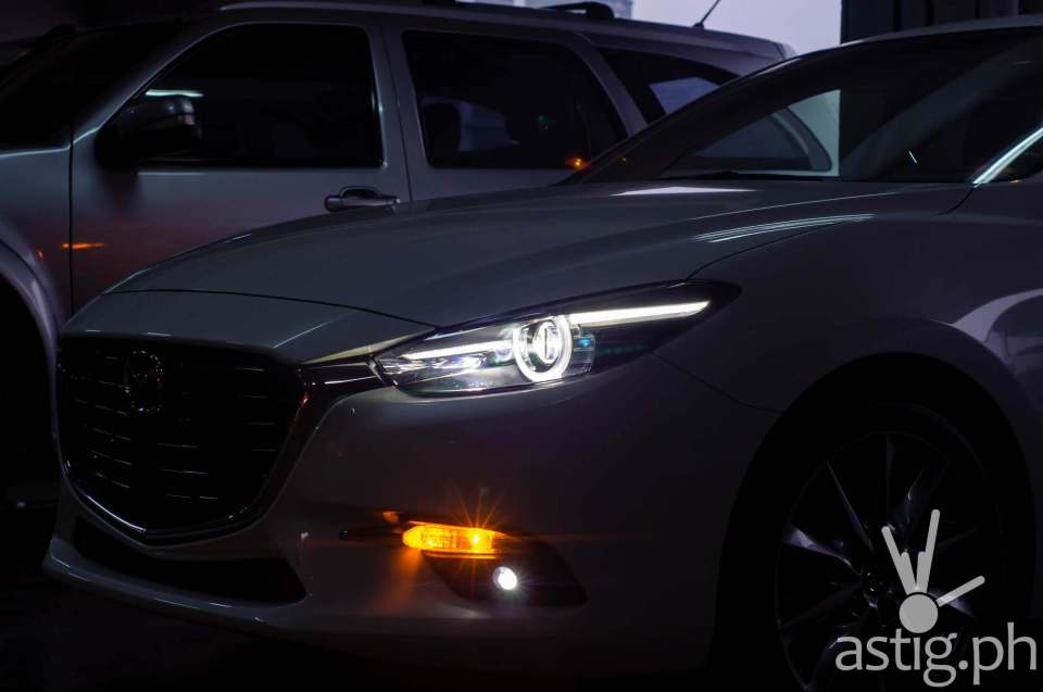 LED lights enhance the strong features of the 2017 Mazda3