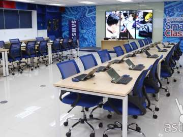 The Samsung SMART classroom is open to college engineering students and senior high school students in the ICT track.