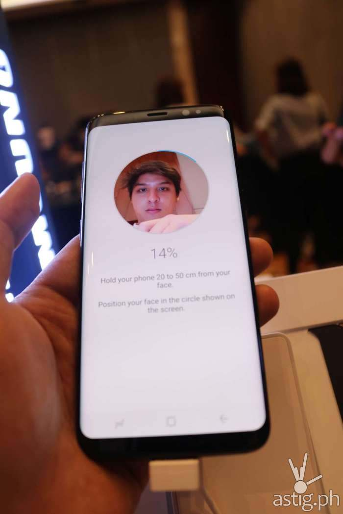 Samsung Galaxy S8 security - facial recognition