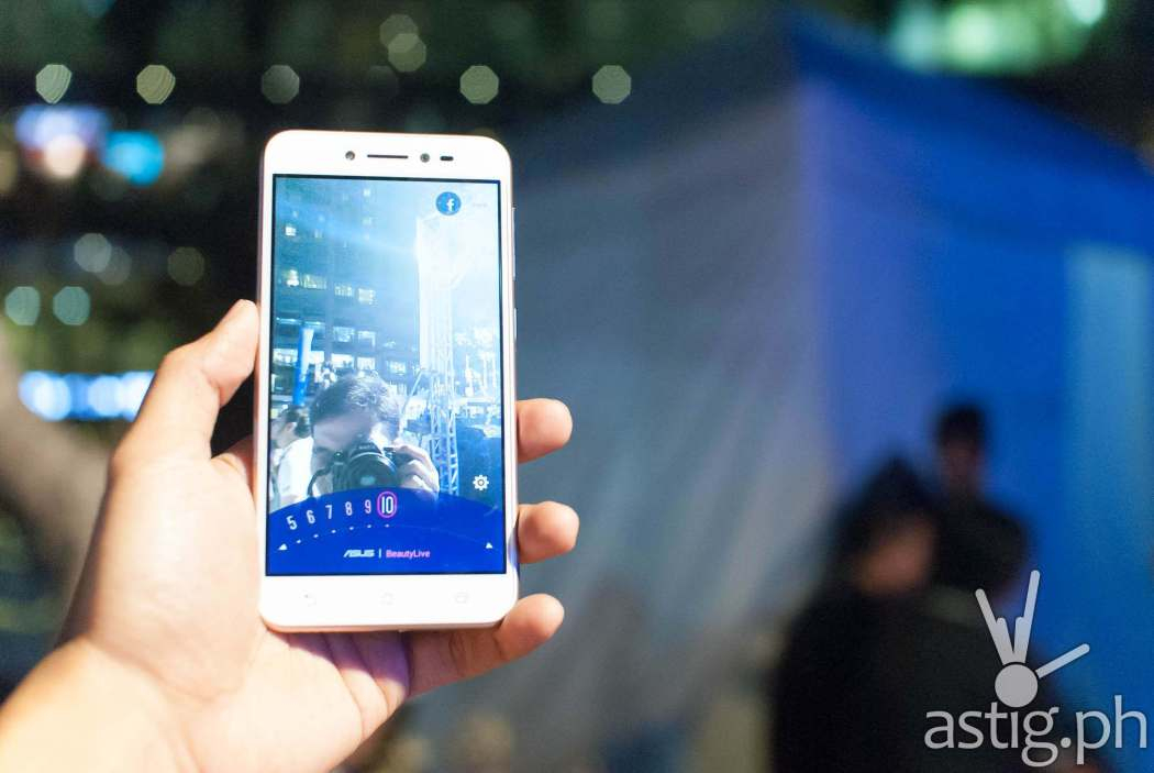 The Zenfone Live is the first smartphone to pack a live beautification feature on its front (selfie) camera