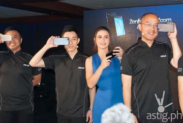 Anvey Factora, Lenny, Yassi Pressman, and George Su at the Zenfone 3 Zoom Philippine launch