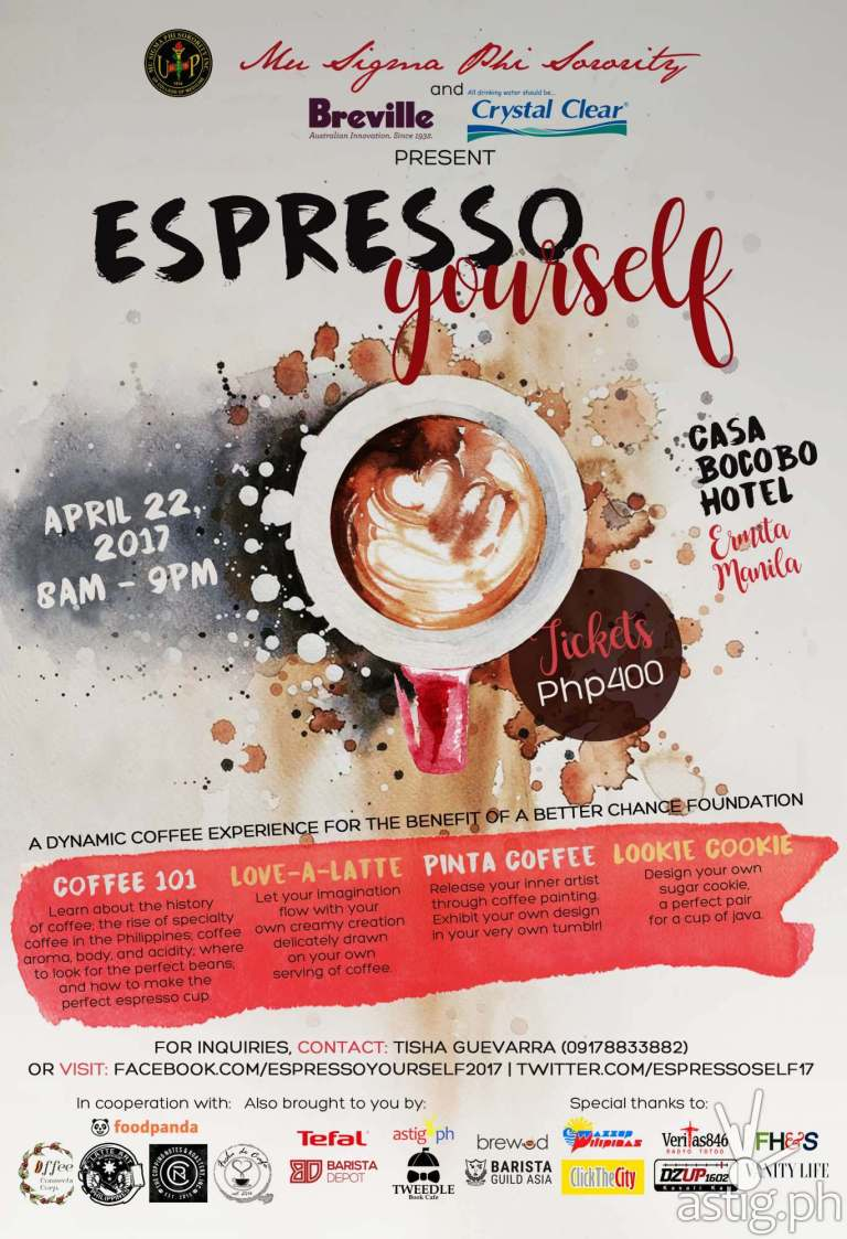 Espresso Yourself event poster