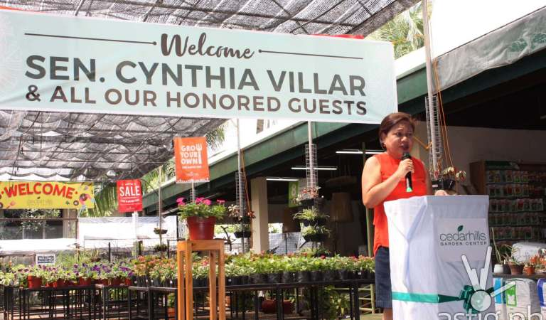 Senator Villar Thanks Cedarhills Garden Center For Advocating Urban Agriculture