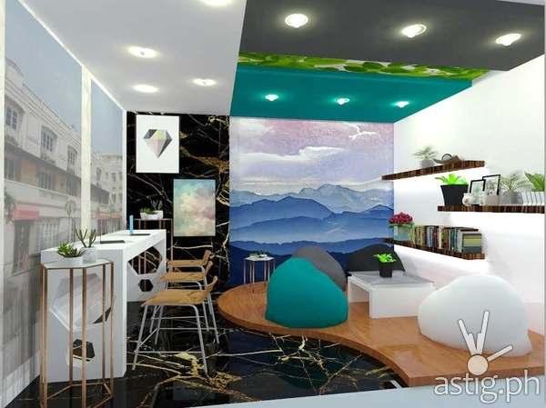 Student Lounge by Joanna Pahutan