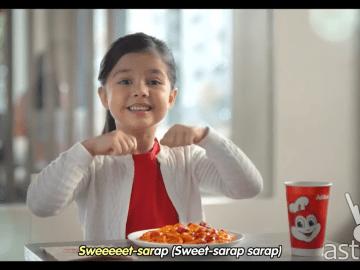 Xia Vigor dances to Jollibee in this video