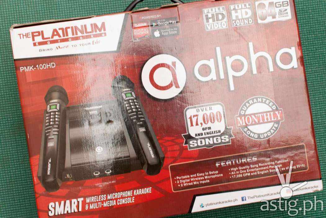 Platinum Alpha Karaoke box