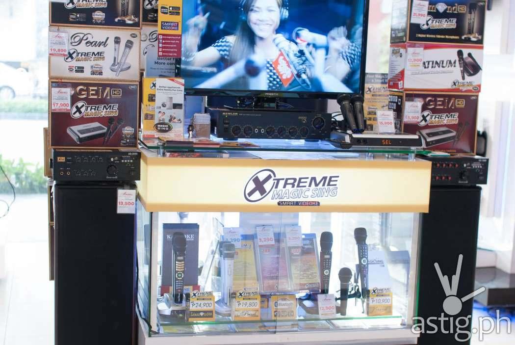 Xtreme Magic Sing store display at Abenson Makati
