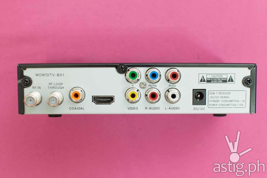 WOW TV Box rear connectors