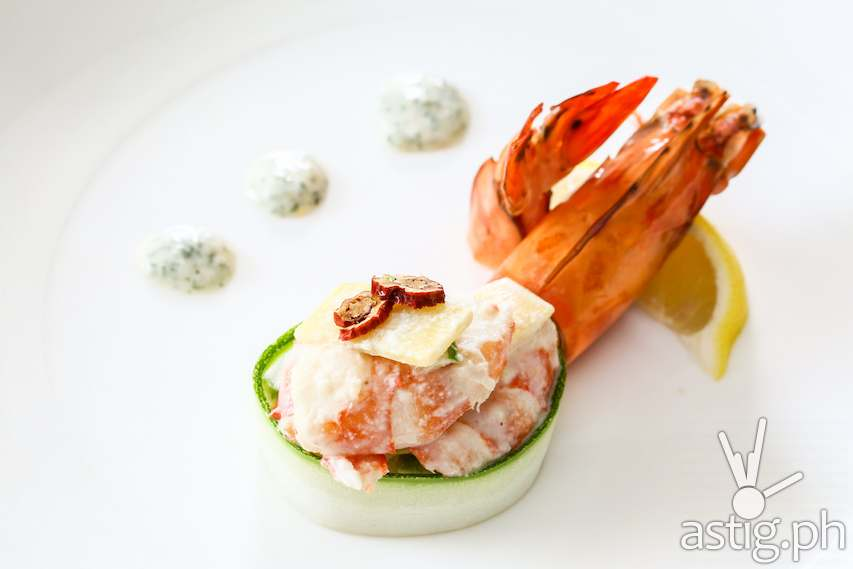 Daeha Susam Nengche – prawn salad with gingseng
