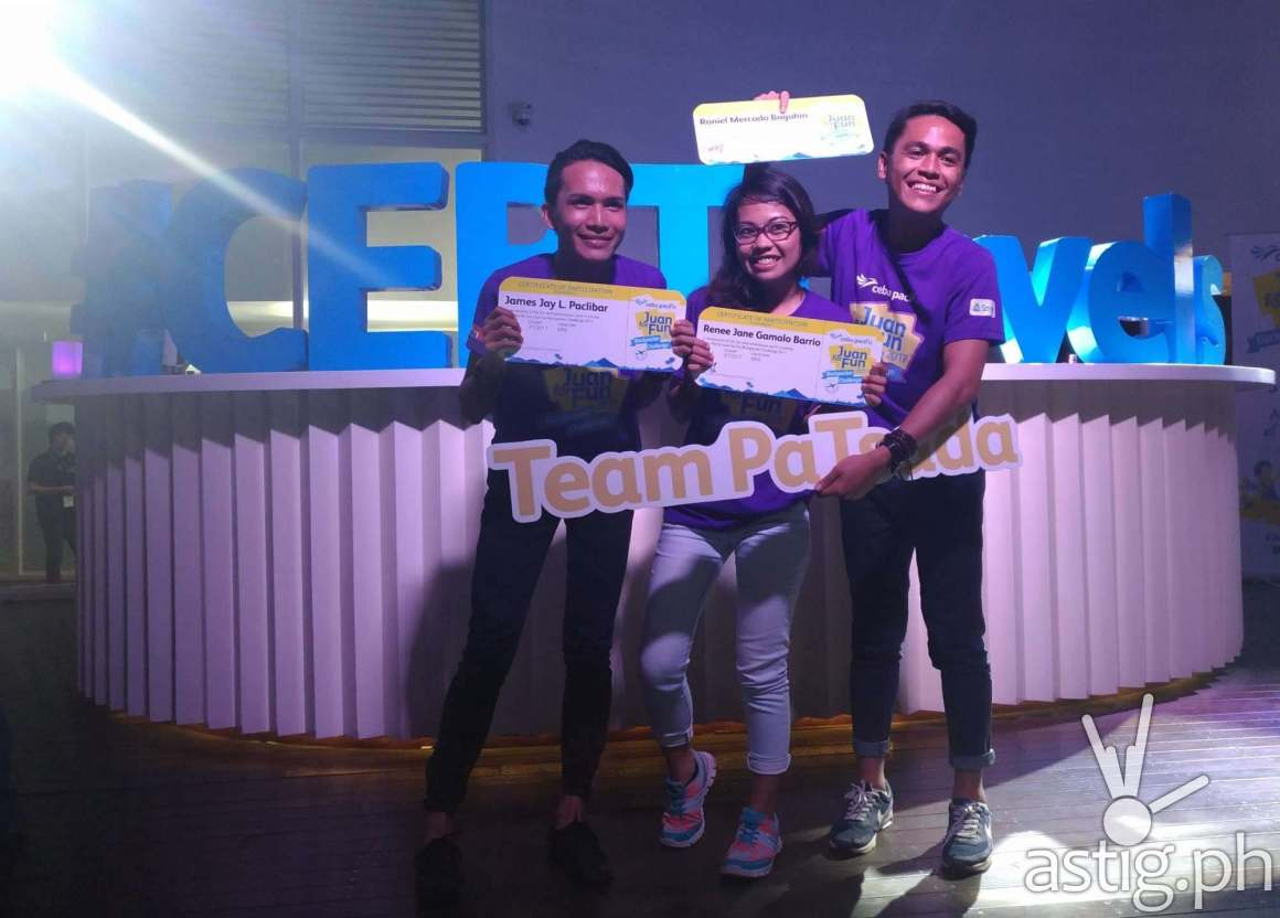 Second place winners Team Patsada will get three trips from Cebu Pacific and pocket money