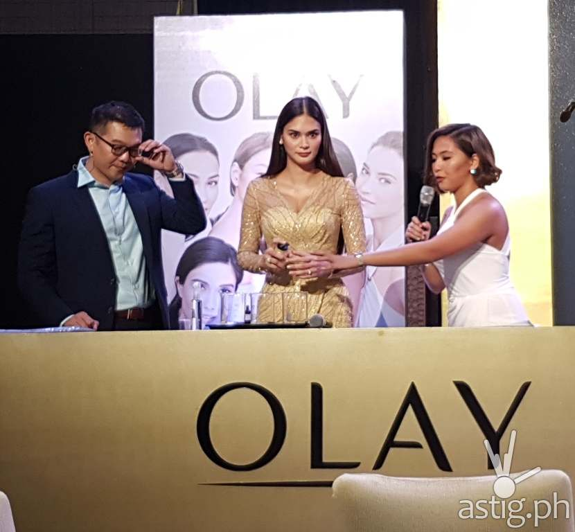 Olay White Radiance, Olay Total Effects, and Olay Regenerist Pia Wurtzbach
