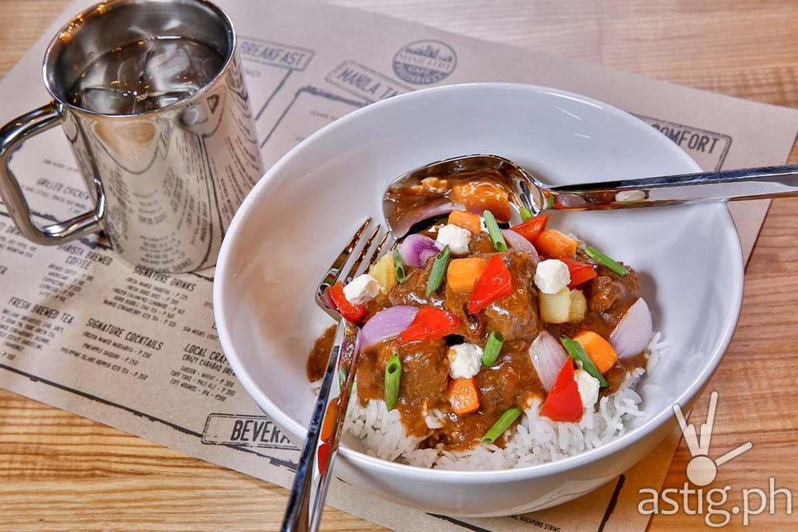 Beef Kaldereta, Php 380 - Manila Life Café