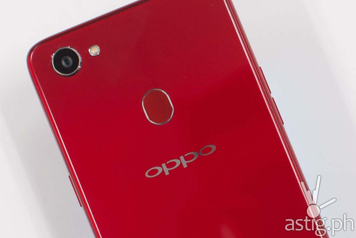 OPPO F7 back showing camera and fingerprint reader