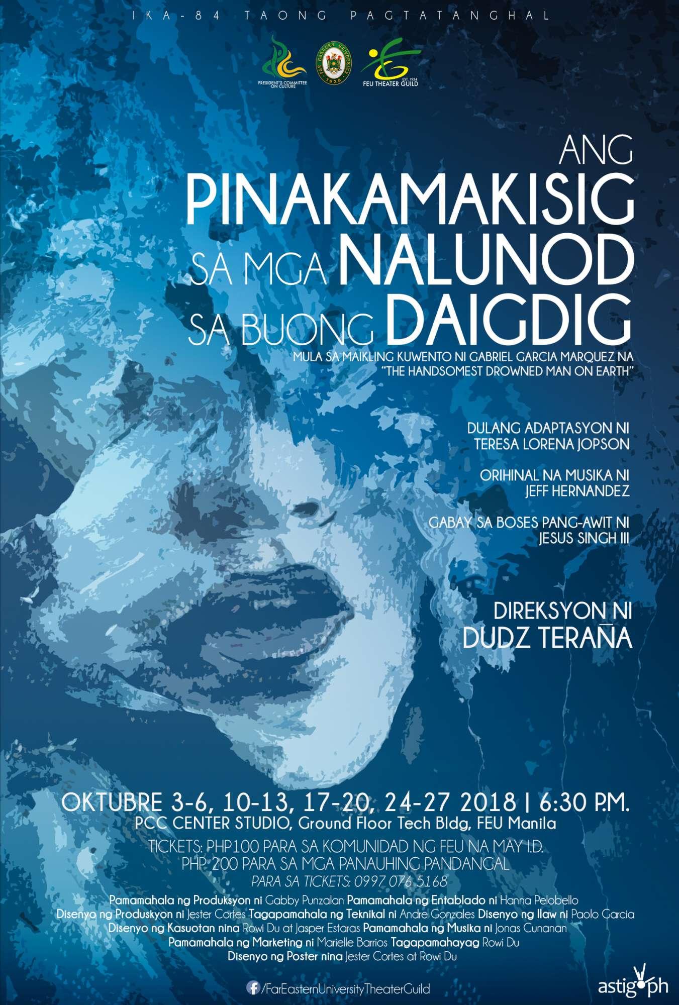 Ang Pinakamakisig sa mga Nalunod sa Buong Daigdig FEU Theater Guild poster