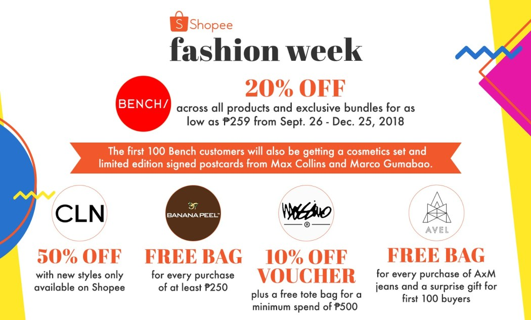 20% off all Bench products during Shopee's Fashion Week