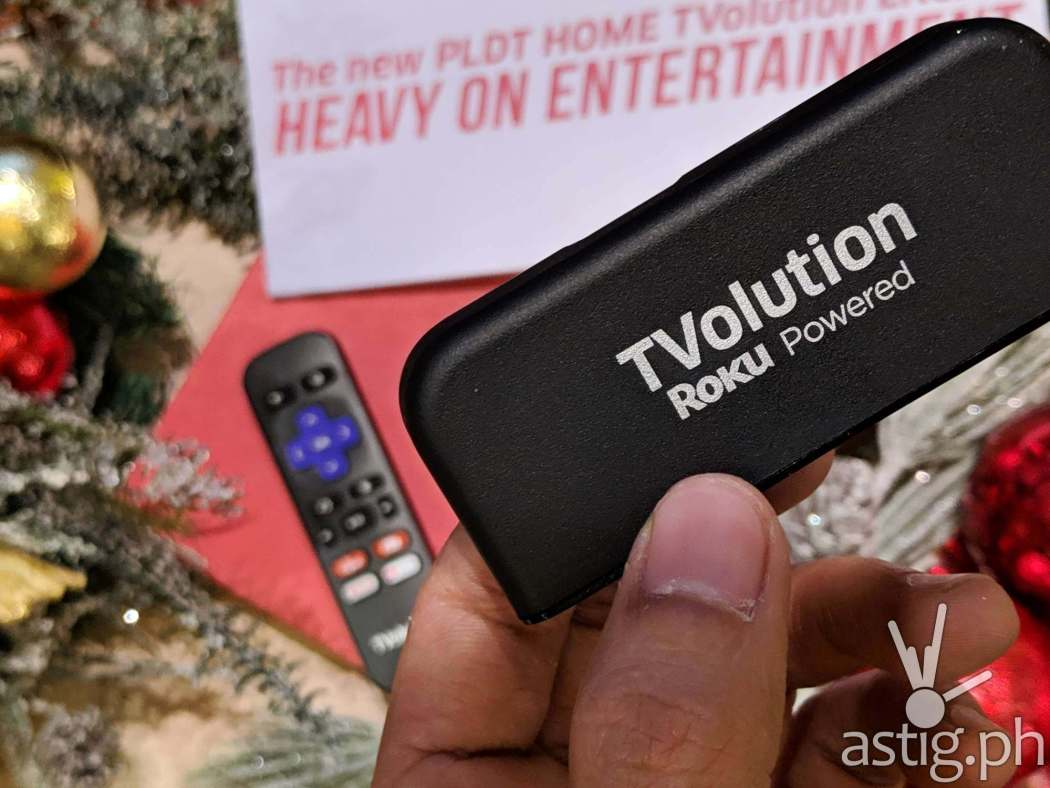 Roku stick at the Philippines launch - PLDT TVolution Lite
