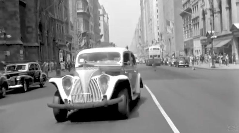 A 1945 Car Dashcam