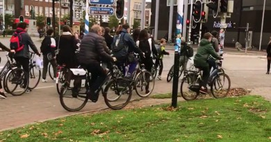 A Group of 'Behavioural Science' Pranksters Solve Bicycle Congestion With A Duct Tape