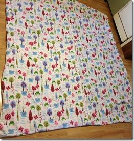 back of blanket