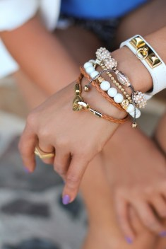 A Touch of White Arm Candy