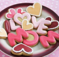 Letter Cookies for Mother's Day