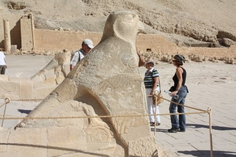 At the Mortuary Temple of Queen Hatshepsut