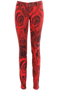 5 Pocket Skinny Jean in Royal Rose Print