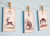 7. Vintage alphabet cards