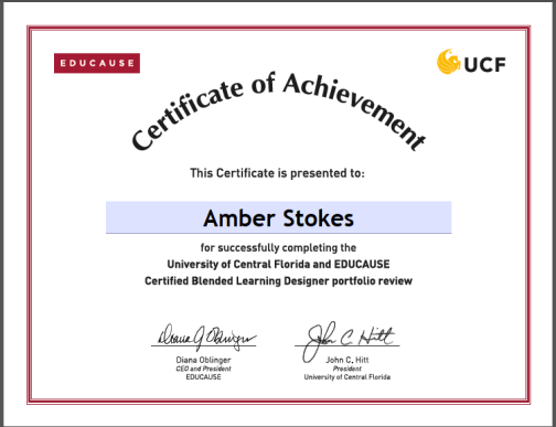 Blendkit 2014 Certificate