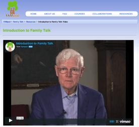 Family Talk intro video (Vimeo)
