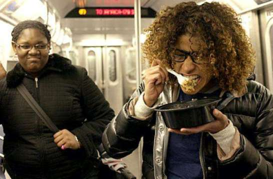 eating on the train