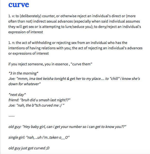 curve urban dictionary