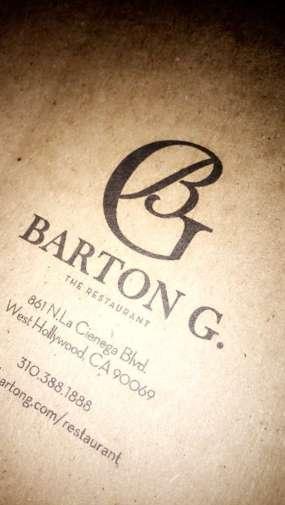 barton g restuarant LA