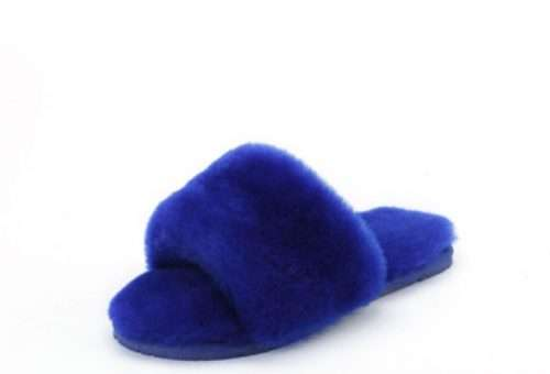 Confetti Lamb Fur Skin Slippers Black owned gift guide