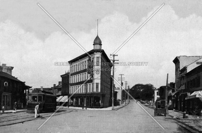 Astoria's version of the Flatiron Building -then
