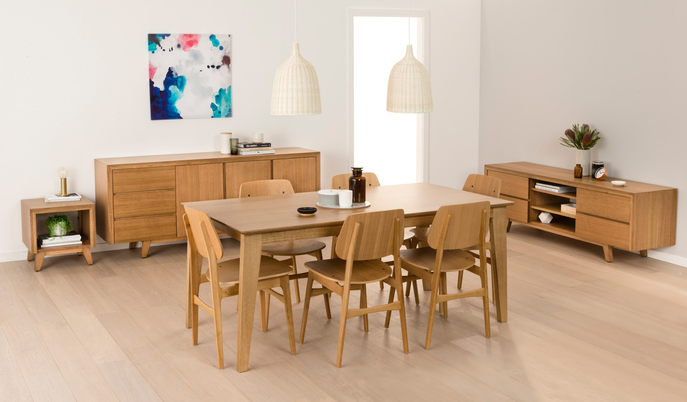 Photograph of Astra Furniture Aztec dining and occasional range crafted from solid Tasmanian Oak