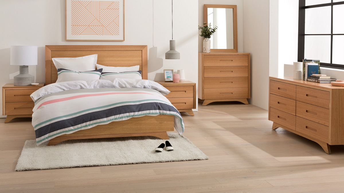 Valencia Tasmanian Oak Bedroom Furniture by Astra Furniture