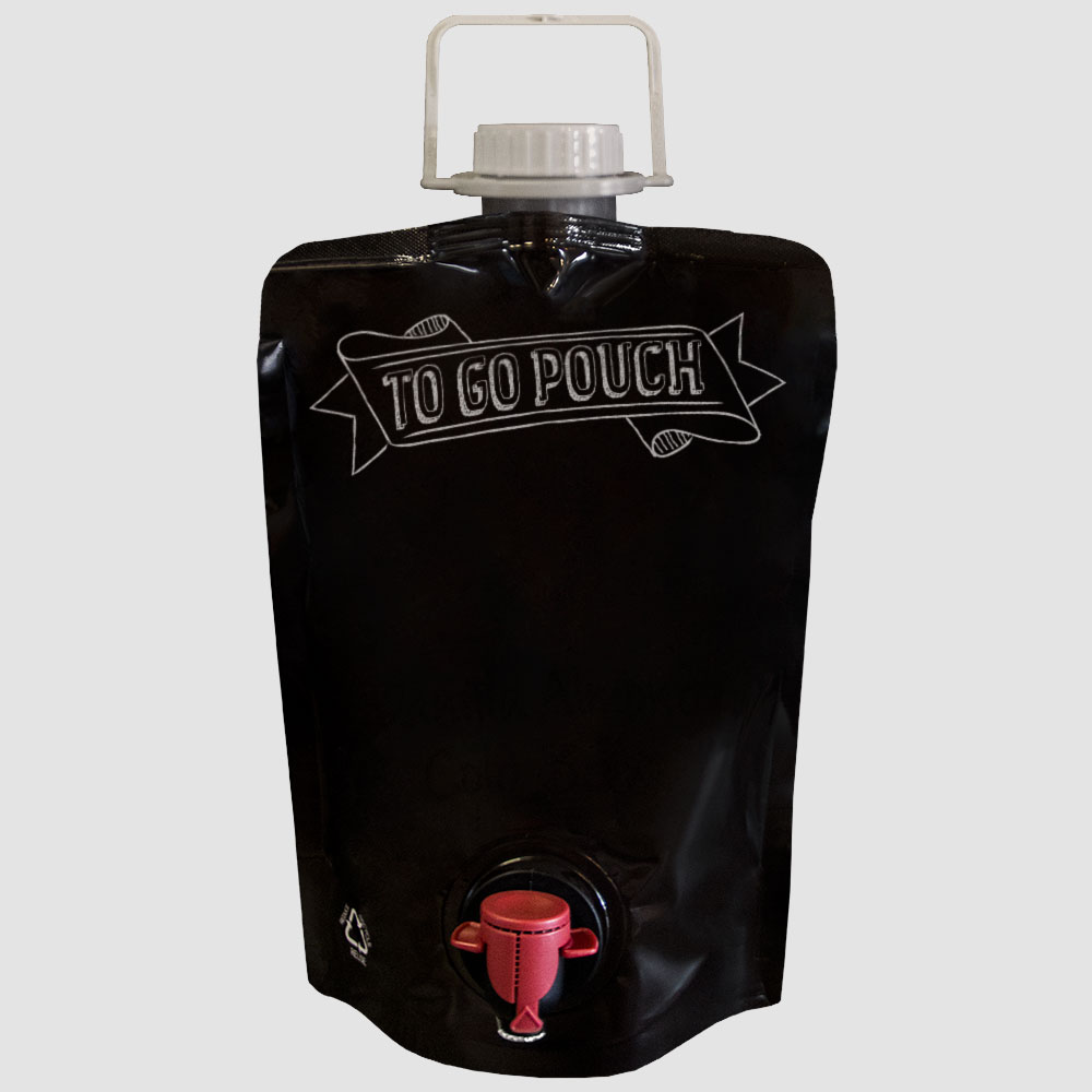 Takeout Beverage Packaging: Wine Growler Pouch
