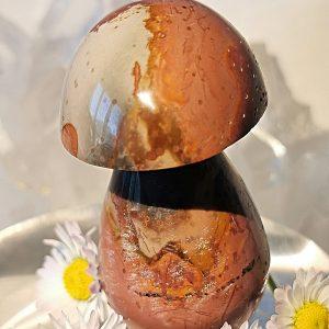 Jaspe -champignon de massage pierre naturelle