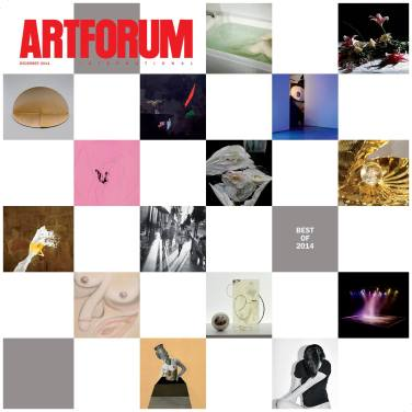 """Selected in """"The Artists' Artists"""" section of Artforum's Best of 2014 issue, for """"the single image, exhibition, or event that most memorably captured their eye in 2014."""""""