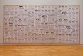 Installation shot: FREE TEXTS (2011-2012, updated 2013)