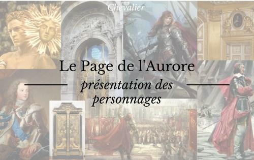 Présentation des personnages du Page de l'Aurore
