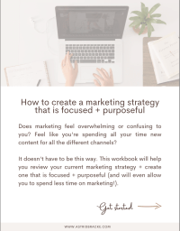 cover workbook how to create a marketing strategy that is focused and purposeful