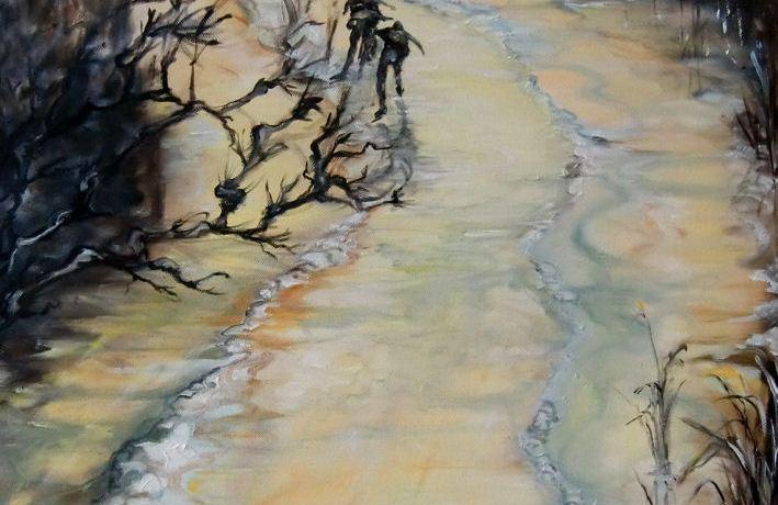 Winterlicht, Olieverf op canvas, 60 x 50 cm, 2012