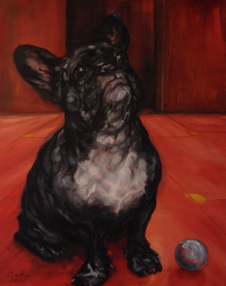 Bulletje, oliverf op canvas, 50 x 40 cm, 2009