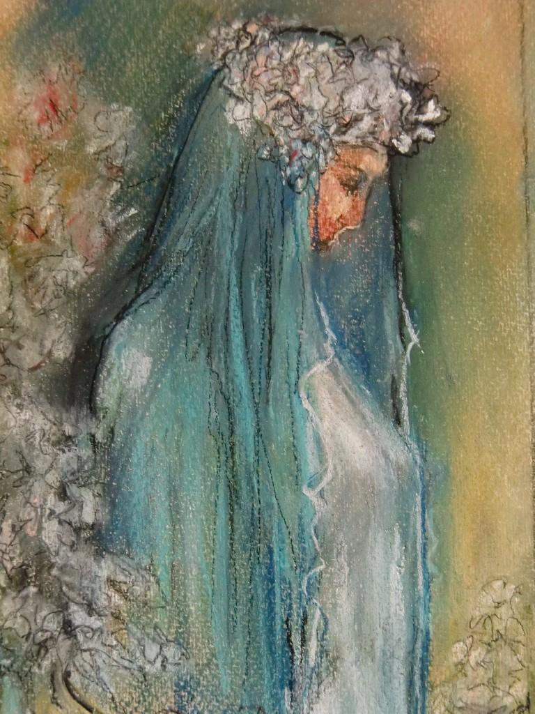 Nuestra Señora de Gracia, Andalucia (Spanje), pastel & conté op canvaspapier, 25 x15 cm, 2012