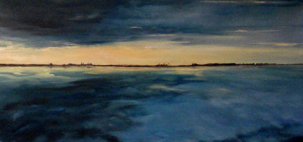 Grevelingenmeer, olieverf op canvas, 60 x 50 cm, 2009