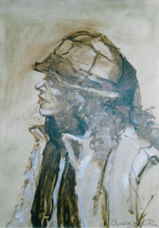 Helen en Profil, olieverf op canvas, 60 x 50 cm, 2003